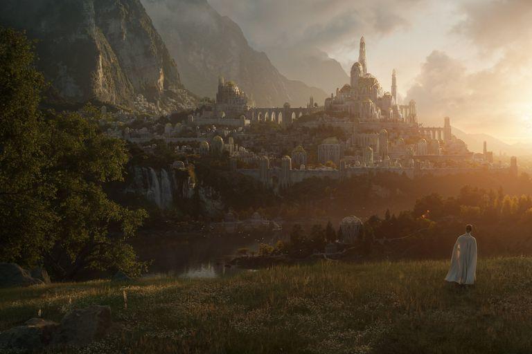 La primera y sugestiva imagen de la serie de El señor de los anillos, que se estrenará el próximo año