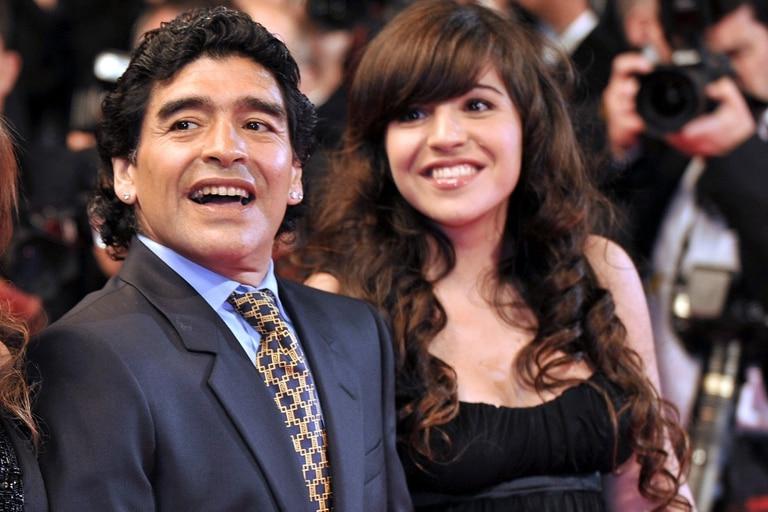 Diego Maradona, junto a su hija Gianinna