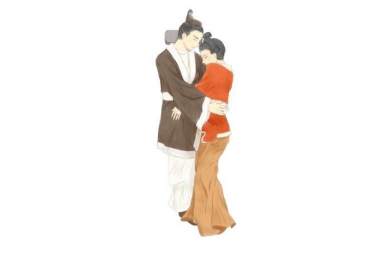 Reconstrucción de la pareja realizada por un artista