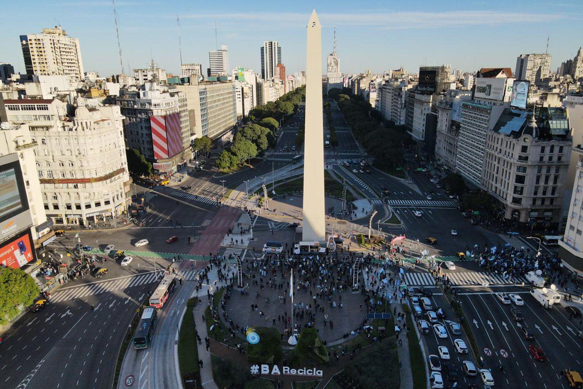 La manifestación en el Obelisco por las nuevas restricciones