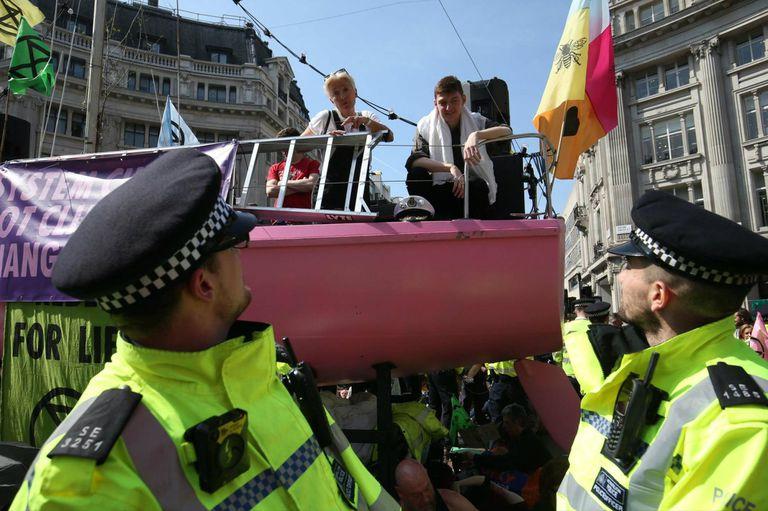 Emma Thompson en las protestas en Londres por el cambio climático