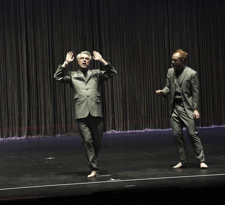 Uno de los momentos teatrales del recital
