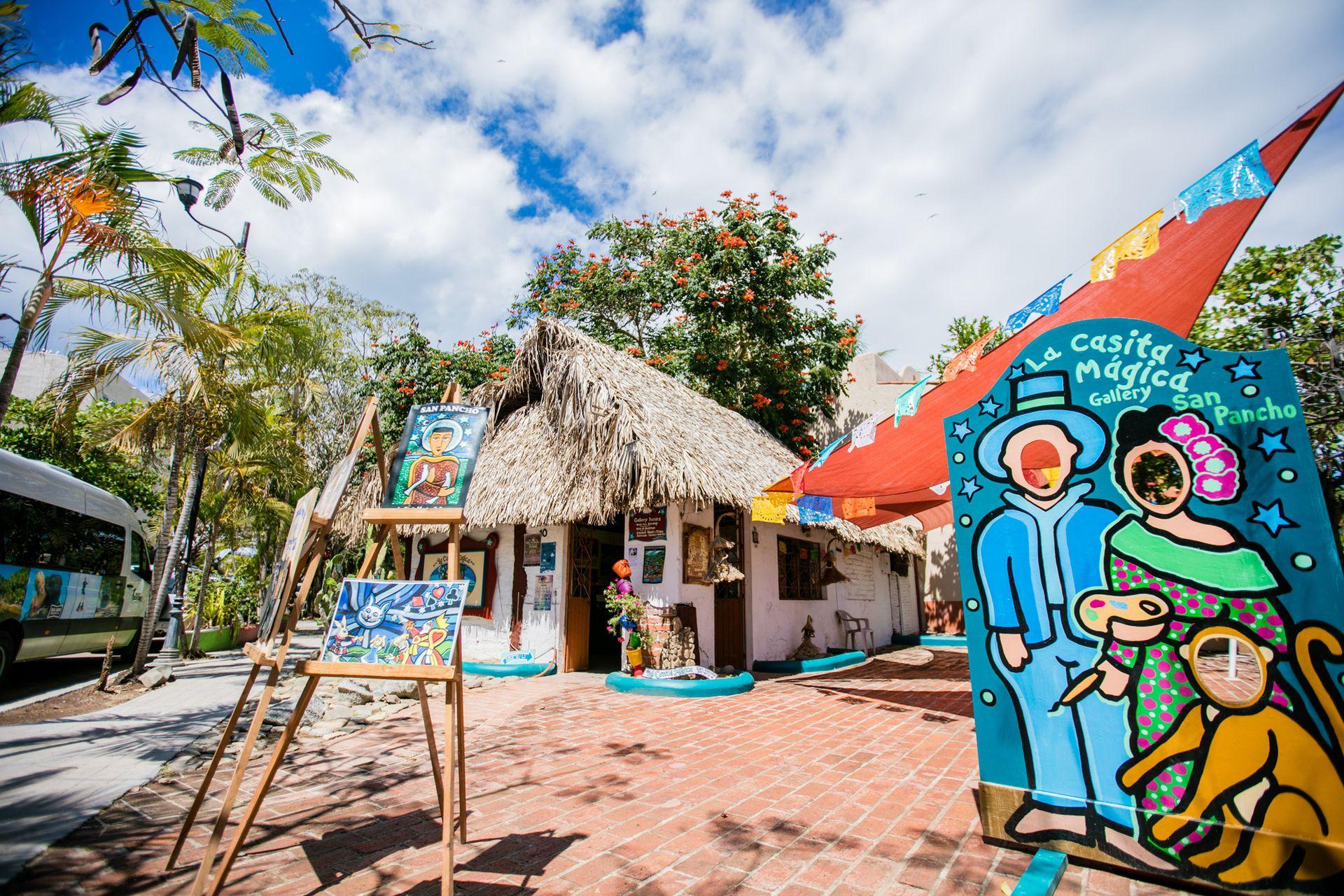 El colorido del centro de San Pancho