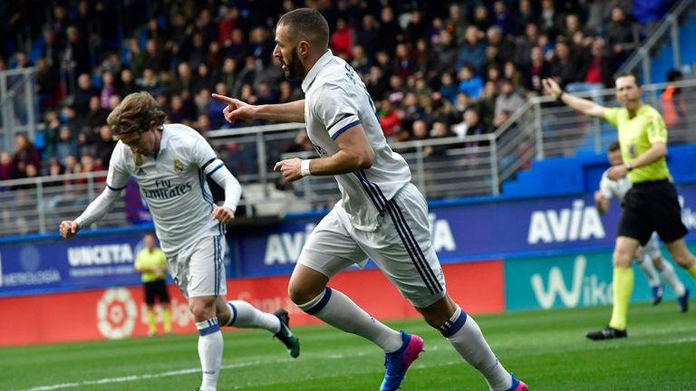 Benzema fue la gran figura ante Eibar