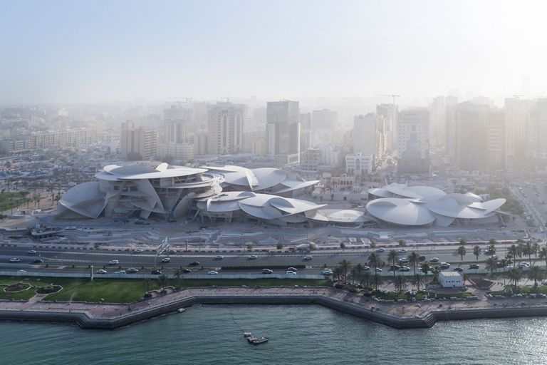 Vista de Doha, donde se inaugurará el Museo Nacional de Qatar, diseñado por el arquitecto Jean Nouvel