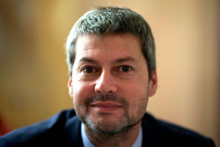 167/5000 El ministro de Turismo de Argentina, Matias Lammens, posa antes de realizar una entrevista con la Agencia France Presse en Madrid el 20 de enero de 2020.