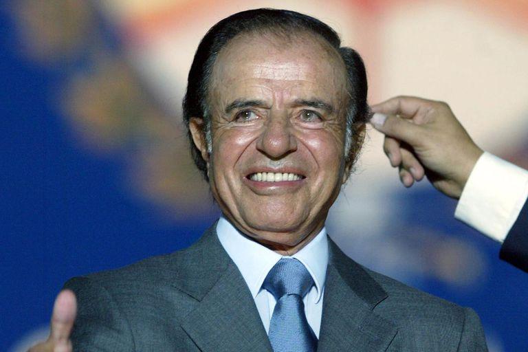 Carlos Saúl Menem, durante la campaña presidencial, en abril de 2003, su último gran intento por volver al primer plano