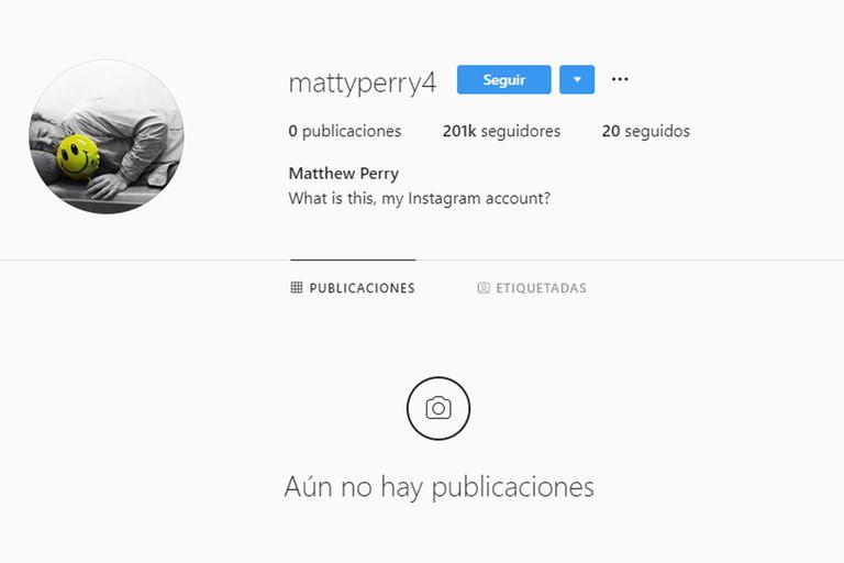 El flamante Instagram de Matthew Perry