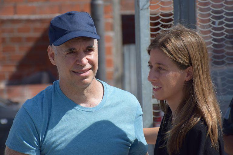 El Jefe de Gobierno porteño, Horacio Rodríguez Larreta, y la ministra de Hábitat y Desarrollo Humano, María Migliore.