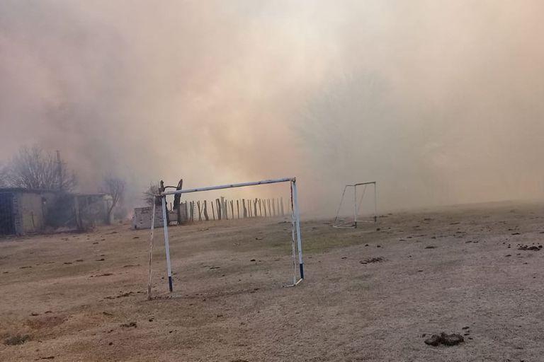 Desde el ministerio de Gobierno provincial confirmaron la detención de un hombre de 56 años como presunto autor del incendio forestal en Las Palmas