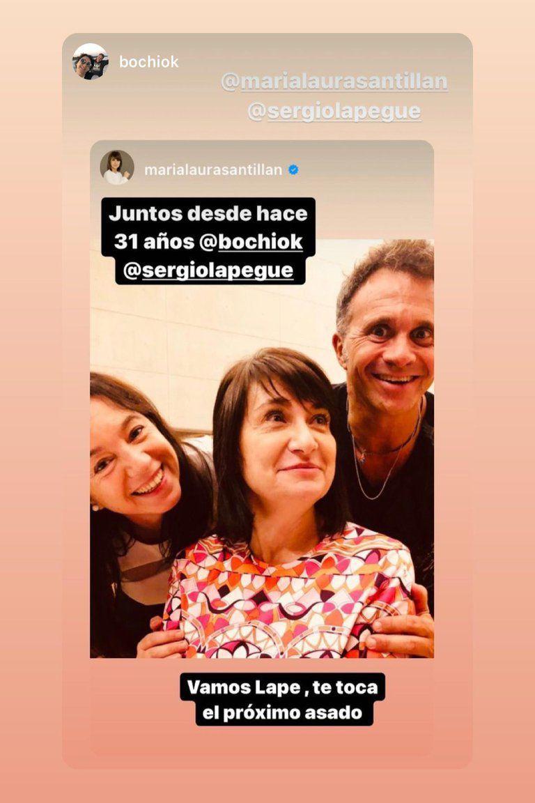 """""""Juntos desde hace 31 años"""": el emotivo posteo de María Laura Santillan para Sergio Lapegue"""