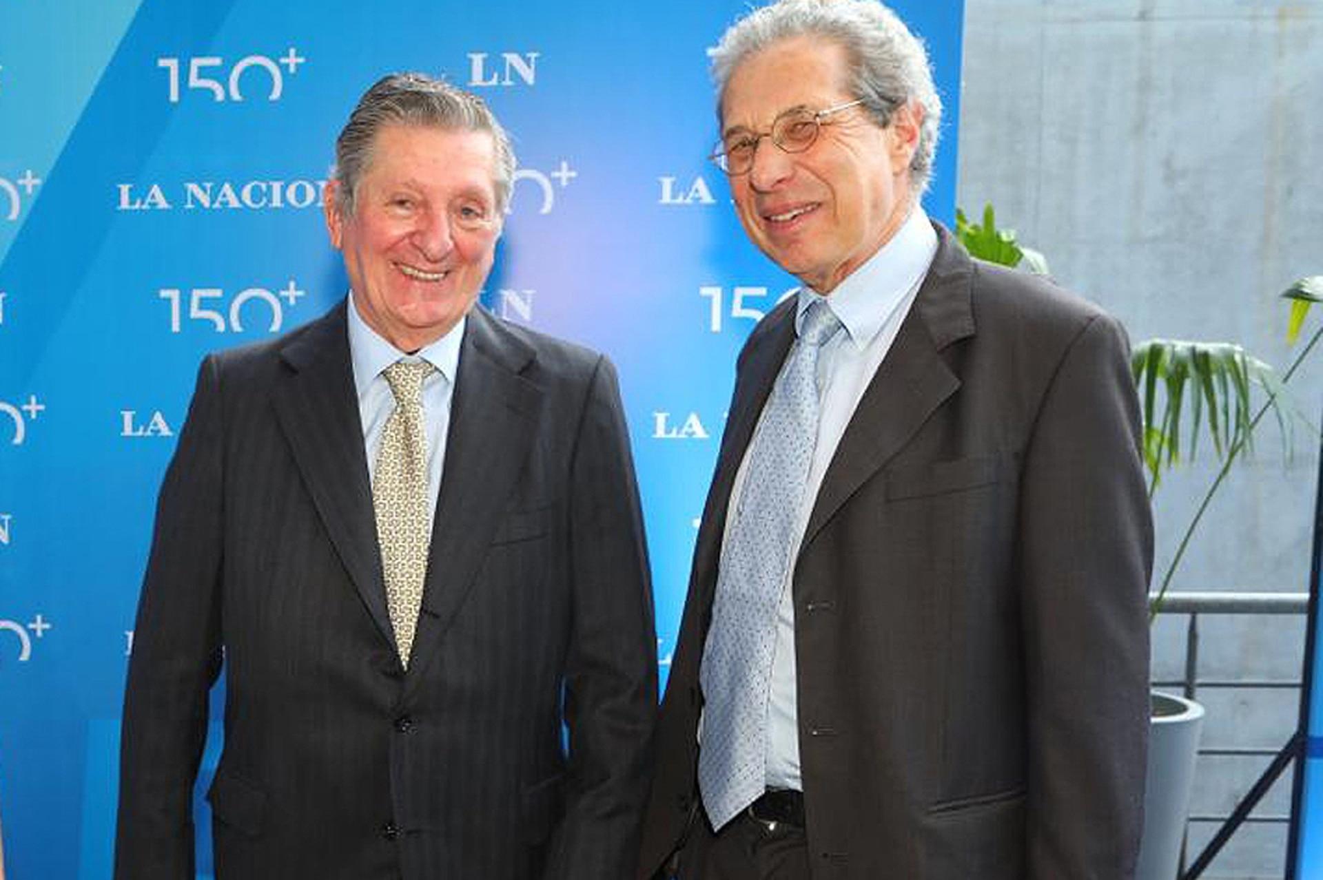 José Claudio Escribano y el exsecretario de Finanzas, Daniel Marx