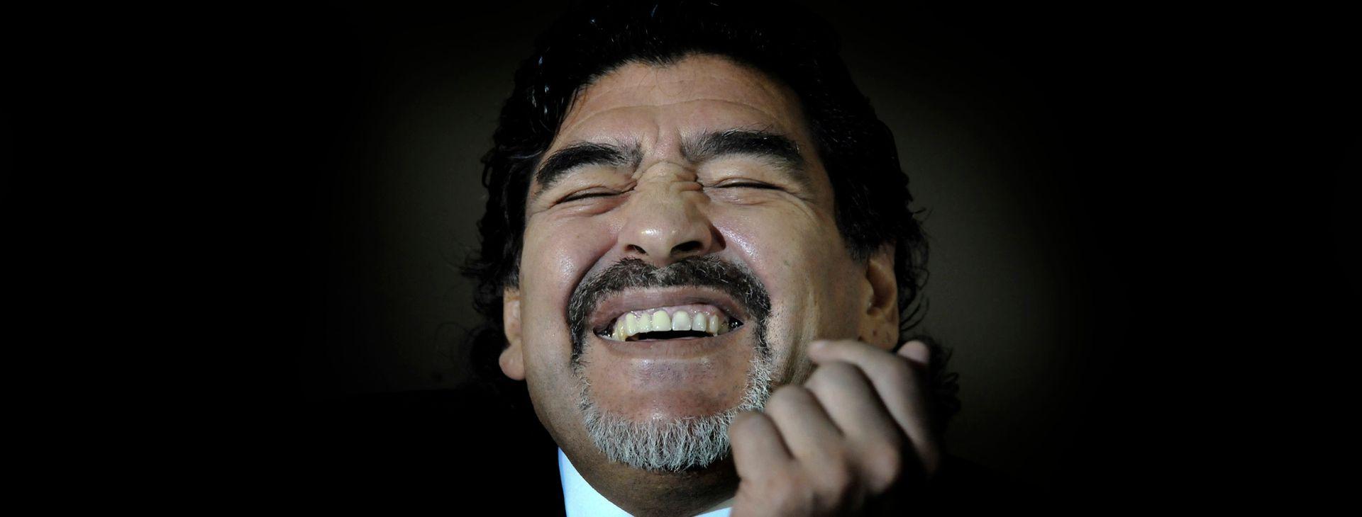 Otro gesto característico de Maradona, un buen momento