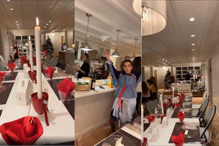 Ricardo Montaner mostró la gigantesca casa donde pasaron Navidad todos juntos: una larga mesa de comedor, isla de cocina, y el blanco como color principal de decoración