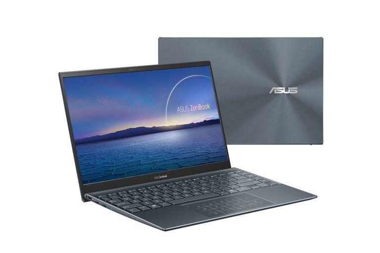 Delgada y muy portátil. La ASUS ZenBook 14 UX425 es ideal para los papás que prefieren computadoras móviles. Esta laptop, que pesa poco más de un kilo y es ultradelgada (13,9 mm), está equipada con un procesador Core i7 de Intel de onceava generación, tiene teclado numérico iluminado en el panel táctil, disco de hasta un  terabyte (1 TB) y viene con 32 GB de memoria RAM. ($159.999)