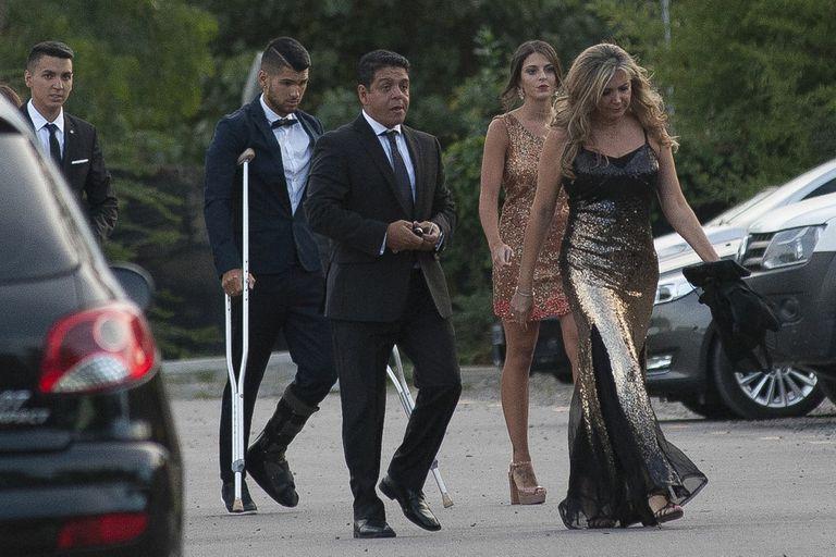 Lalo Maradona y su mujer fueron parte del festejo