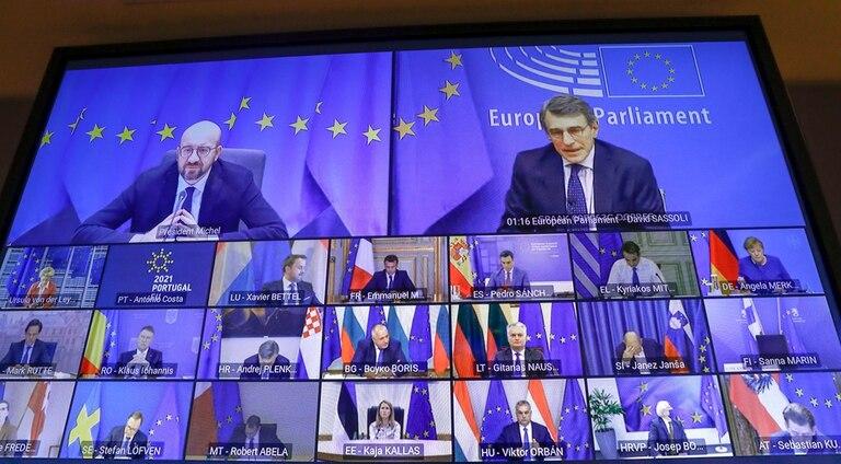 La cumbre europea se organizó de manera remota debido a las restricciones del coronavirus