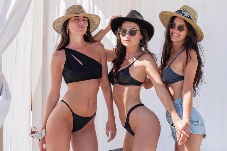"""Inés, Sofía y Pilar pasaron un fin de semana en Pinamar e impactaron con su parecido y sus curvas de infarto. """"Soy una privilegiada de tener a estas dos mujeres divinas en mi vida"""", admite la más conocida de las hermanas Jiménez."""""""