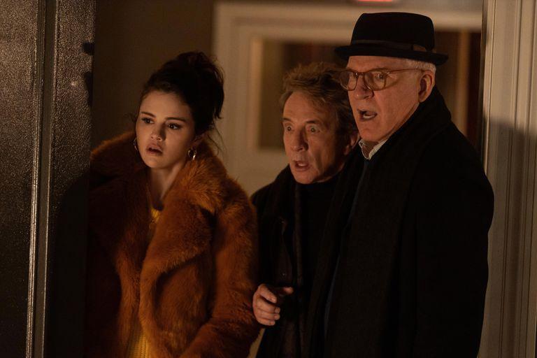 Selena Gomez, Martin Short y Steve Martin en la serie Only Murders in the Building que se verá por Star+