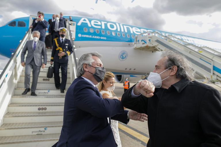 El Presidente arribó a Madrid