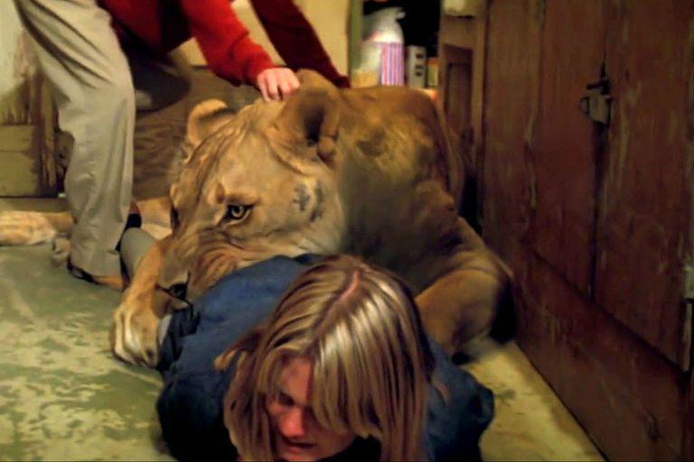 Melanie Griffith fue atacada por un león y casi queda desfigurada