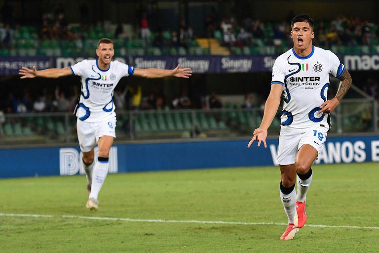 Lautaro volvió a Inter y anotó, pero el que brilló fue Tucu Correa: dos goles en 20 minutos en el debut