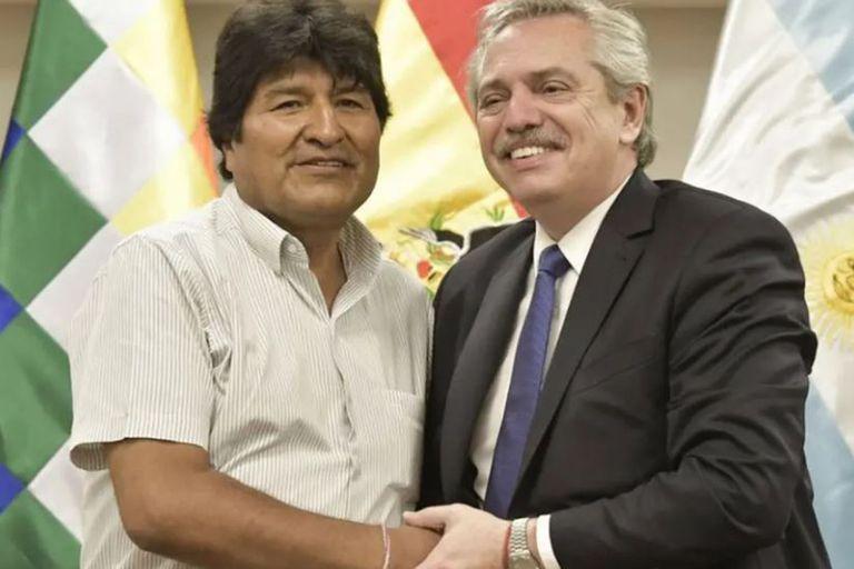 El expresidente Evo Morales agradeció a la gestión de Alberto Fernández por la entrega de oxígeno