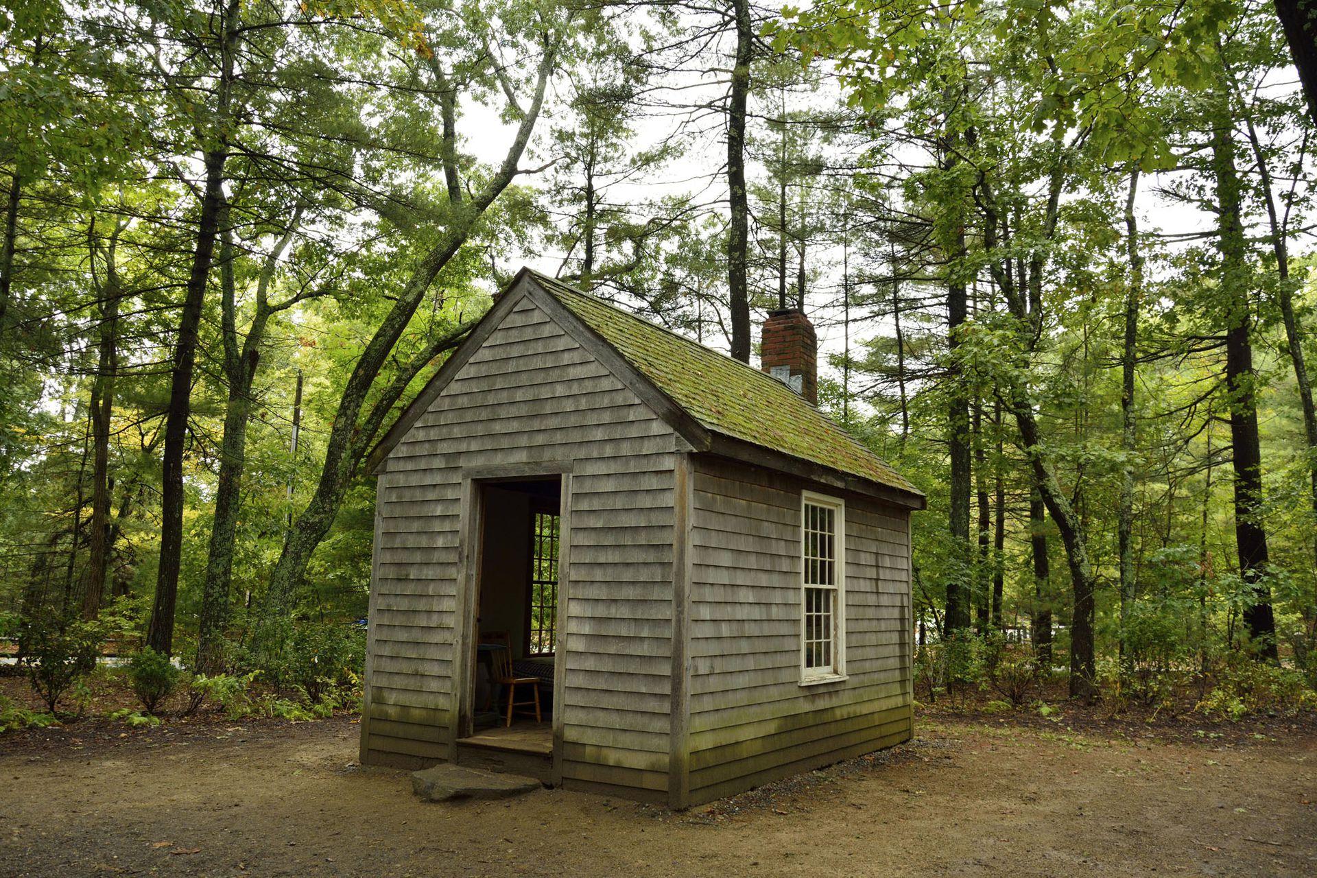 La cabaña de Concord en la que Thoreau vivió, en 1845, su retiro en el bosque