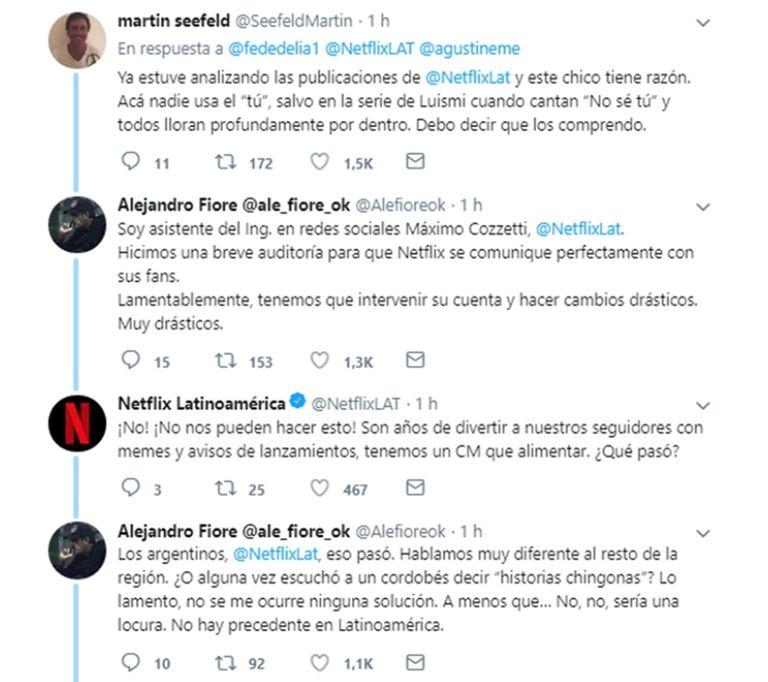 El divertido ida y vuelta entre la cuenta de Netflix Latam y los actores de Los Simuladores
