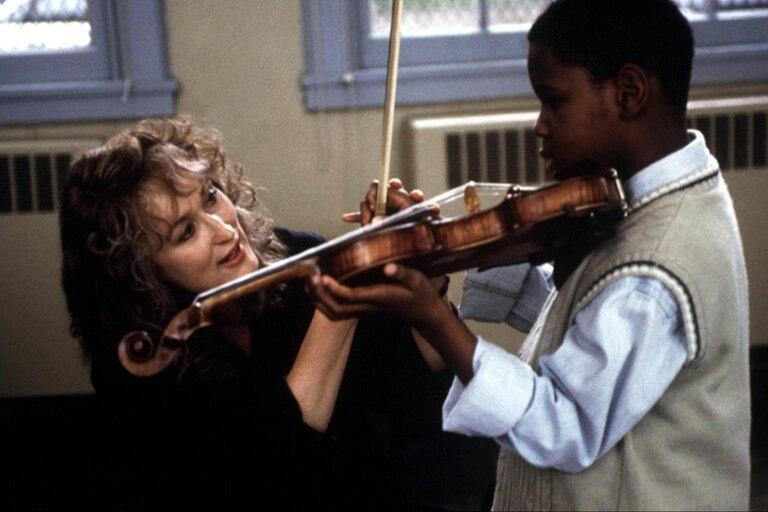 Streep, en una escena de Música del corazón