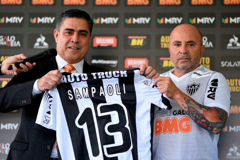 """Sampaoli, en el Mineiro: el """"manto sagrado"""" y lo que dijo sobre su nuevo desafío"""