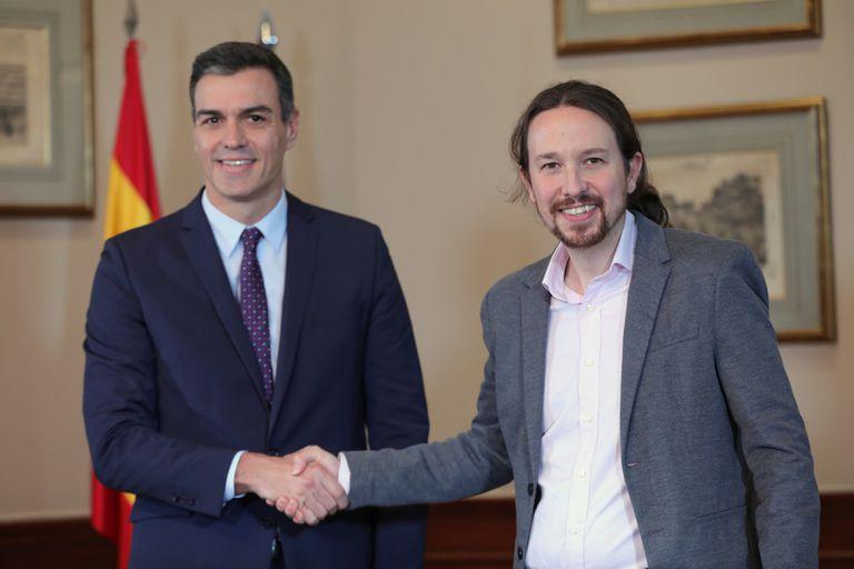 """Sánchez forma una """"coalición progresista"""" con Podemos para seguir en el gobierno"""
