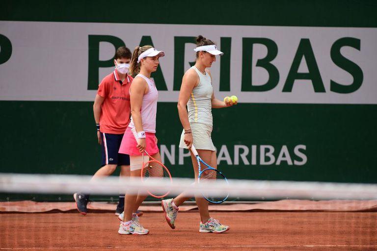 Para Podoroska, el sueño del dobles en París terminó con una derrota ajustada