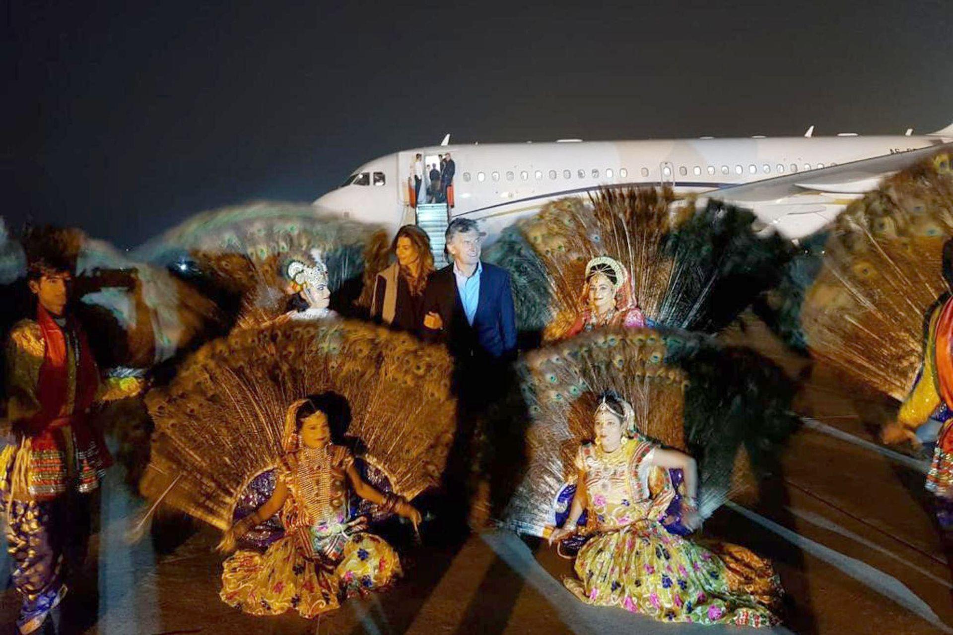 Macri y Awada al llegar a la India, su primera parada no fue en la Capital, Delhi, si no en Agra, donde se encuentra el Taj Mahal