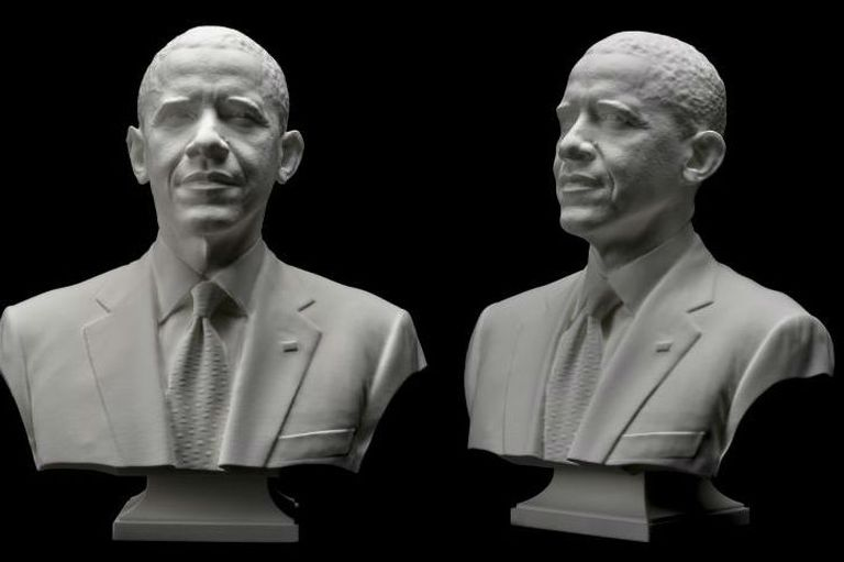 El busto de Obama, perfecto