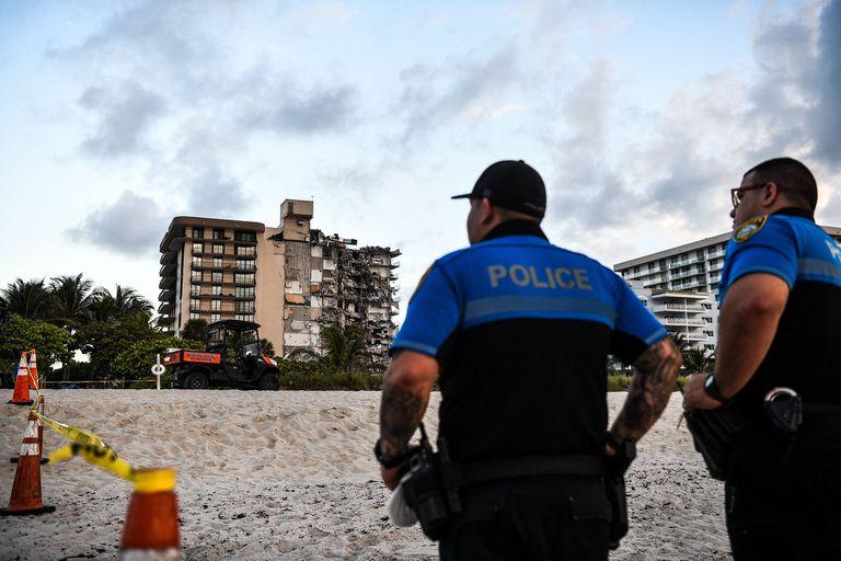 Así quedó el edificio que se derrumbó en Miami