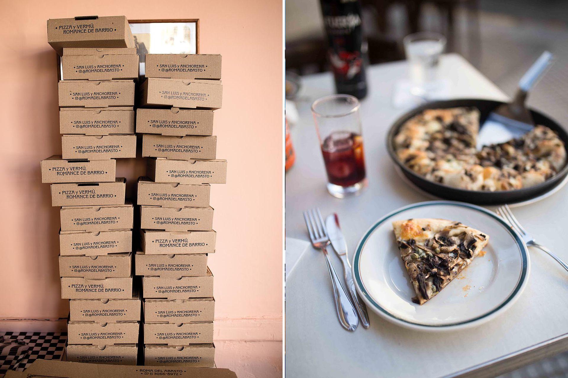 Aunque los sabores y la estética de las pizzas de Roma recuerden a las clásicas de la Avenida Corrientes, a la hora de la digestión se plasman las diferencias.