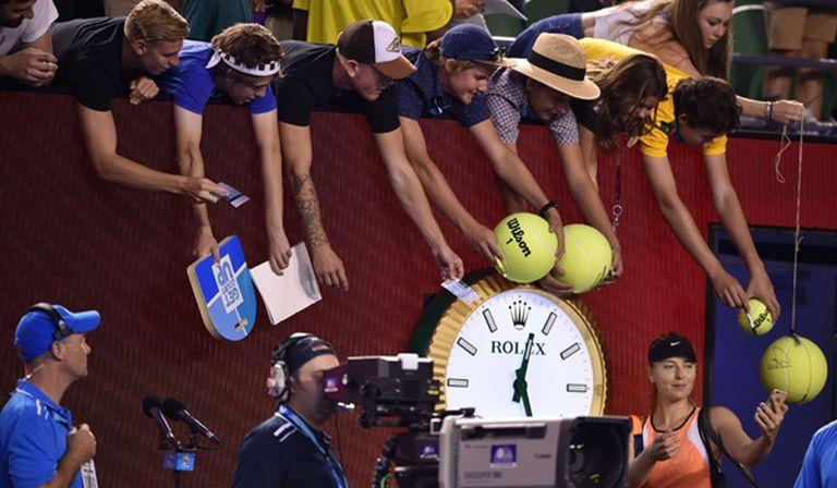 Sharapova y la selfie con sus seguidores