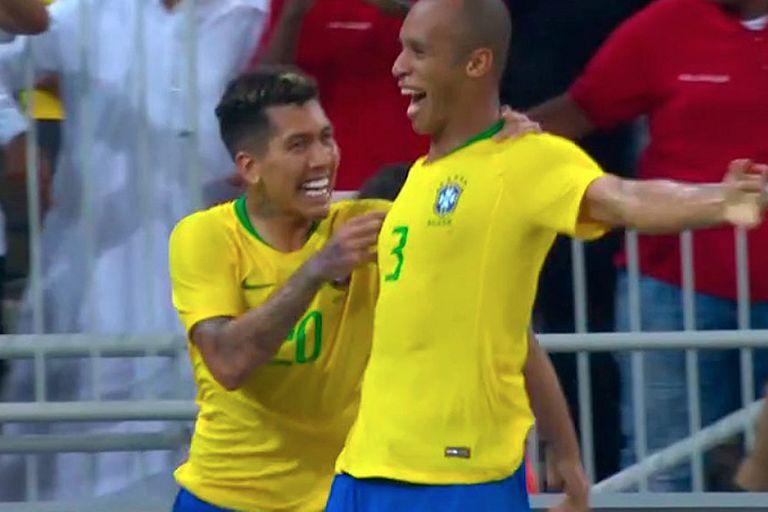 Argentina-Brasil: el gol de Miranda en el descuento, que sentenció el clásico