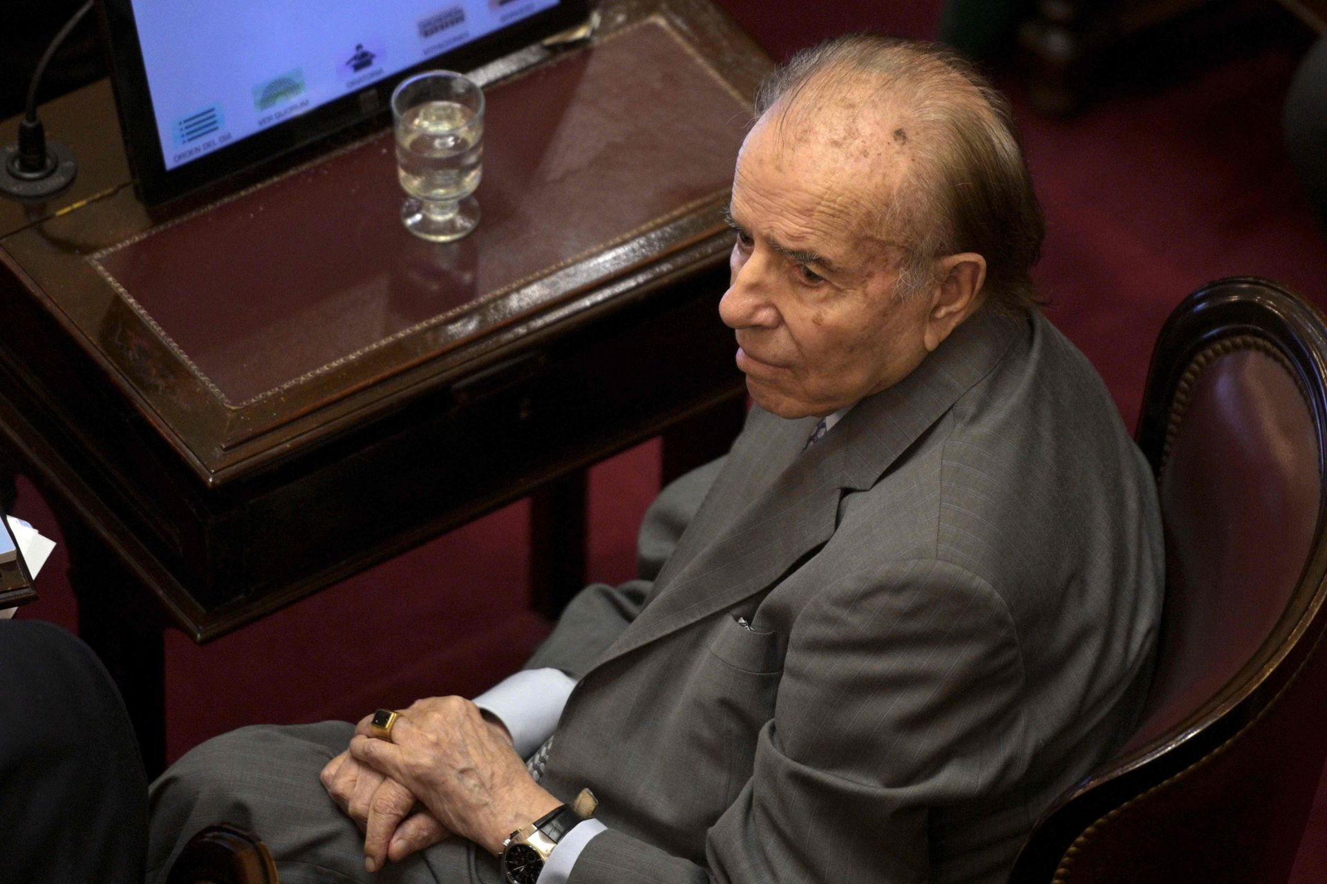 Carlos Saúl Menem en el Senado de la Nación