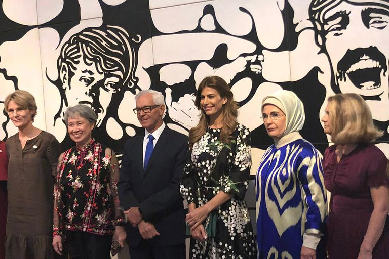 Cómo fue la visita al Malba de las primeras damas del G20
