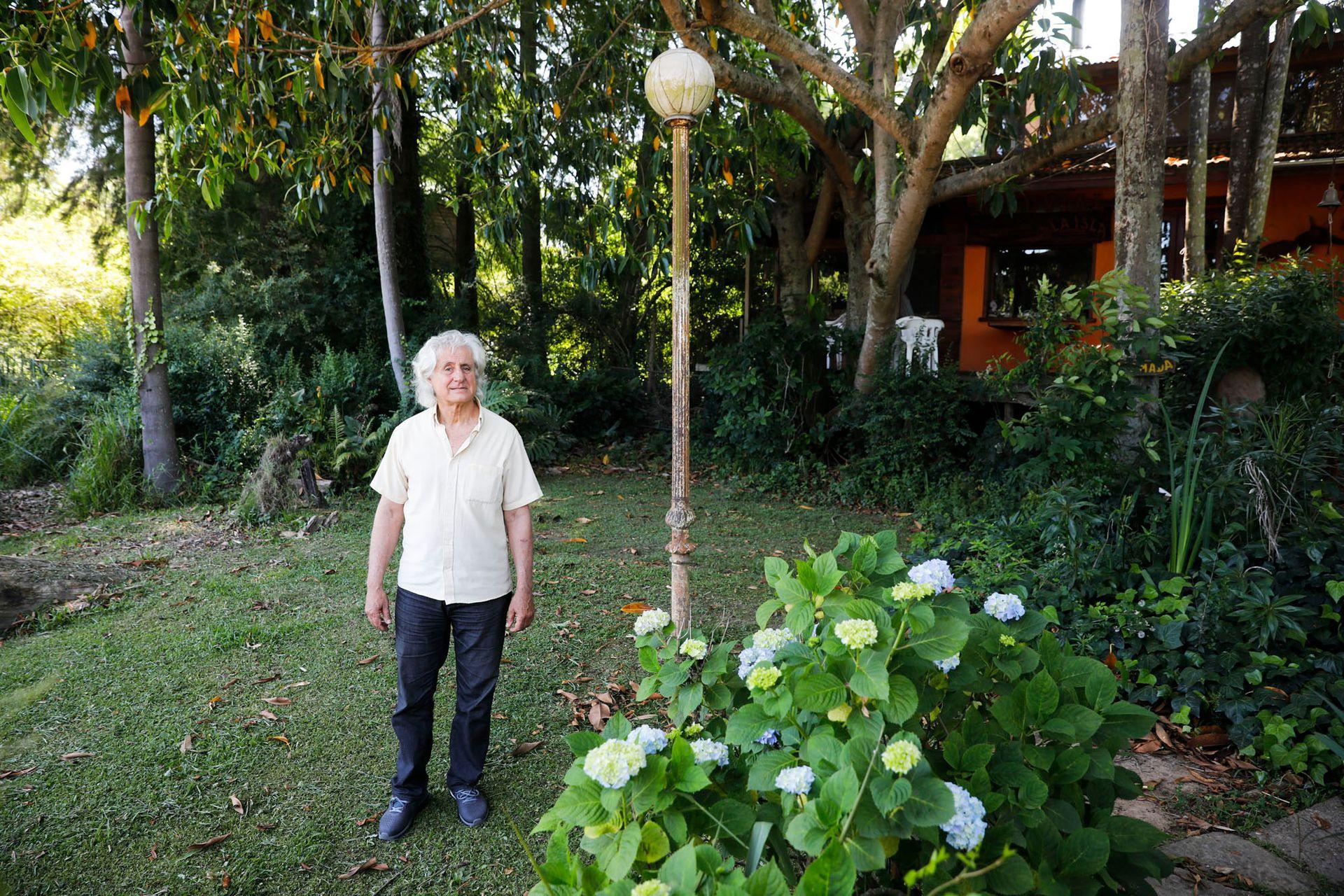 Martín Nunziata, de 72 años. Él vive en las islas hace 41