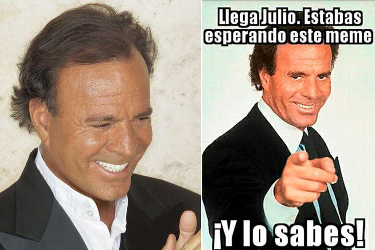 Cambia el mes y vuelven los memes al ritmo de Julio Iglesias