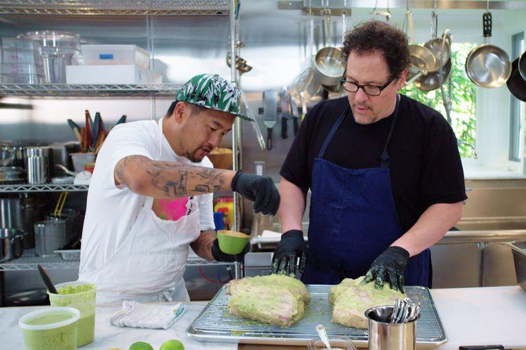 Jon Favreau y Roy Choi en The Chef Show