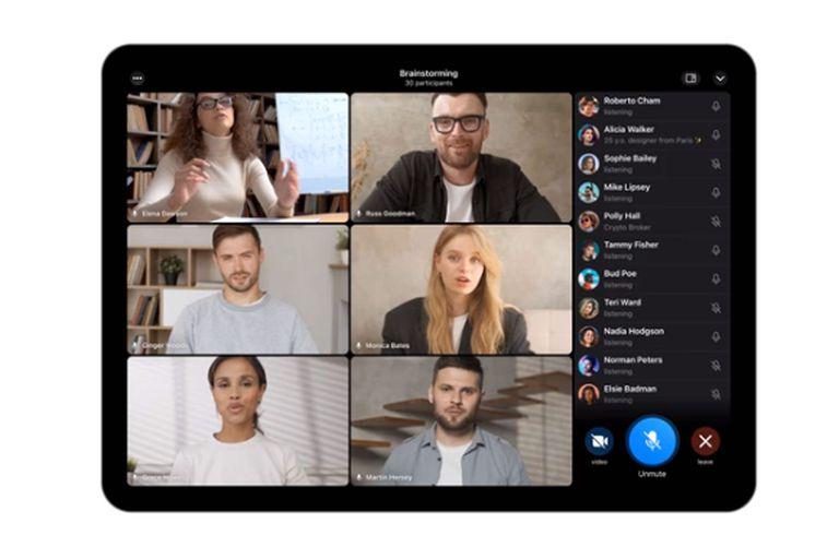 Las videollamadas grupales de Telegram son compatibles con las pantallas de un teléfono, tableta o computadora, y disponen de la función para compartir pantalla
