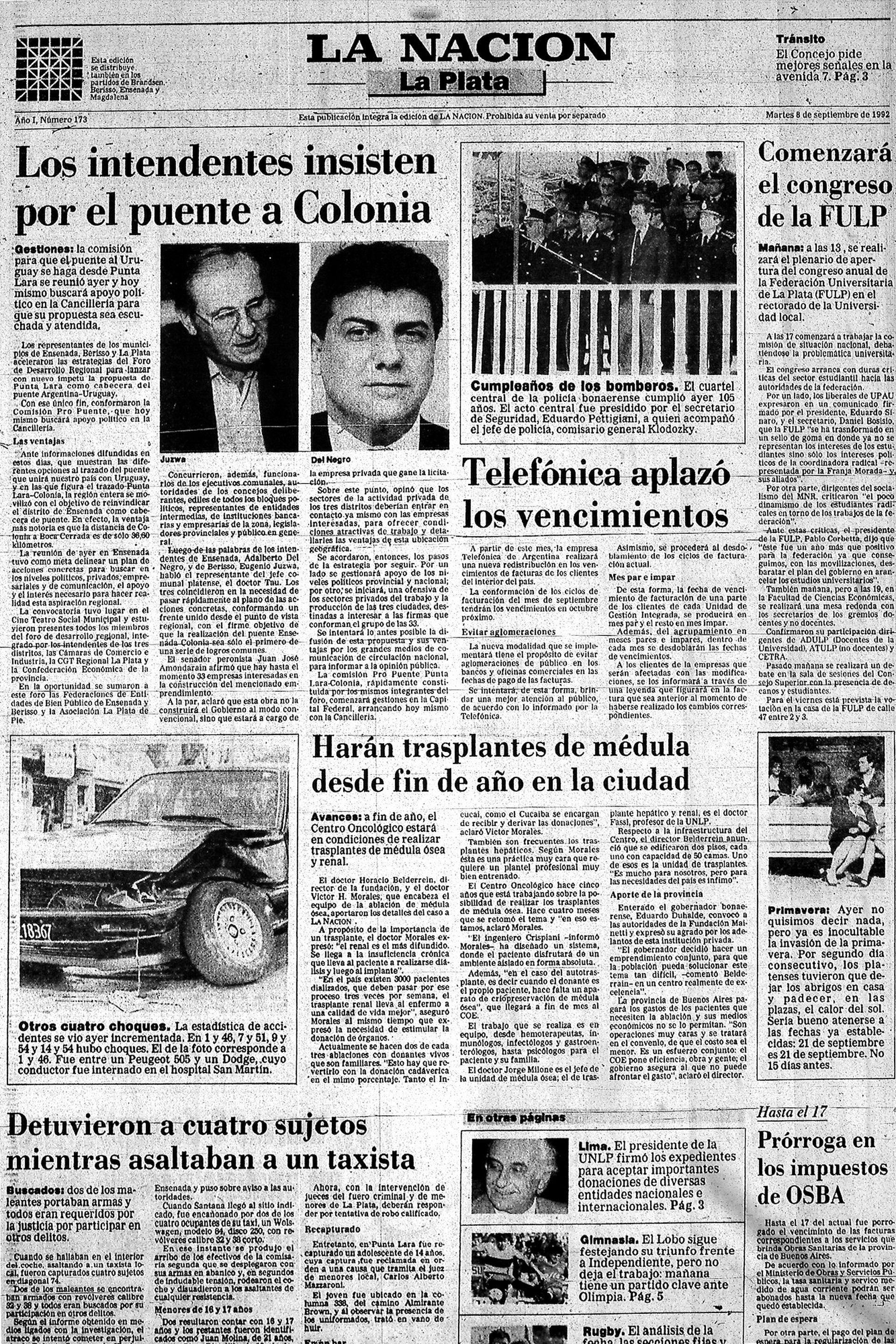 Nota publicada en LA NACION del 9 de septiembre de 1992
