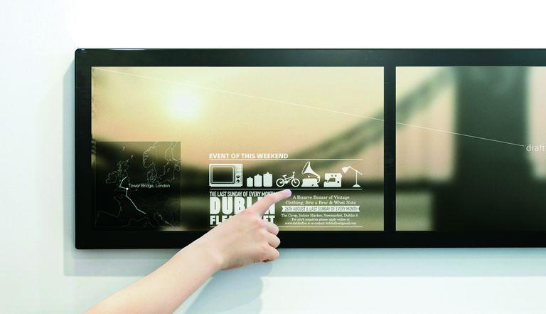 El espejo prototipo de Sony es, además, una computadora en la que se puede chequear el tiempo, la agenda diaria y las noticias