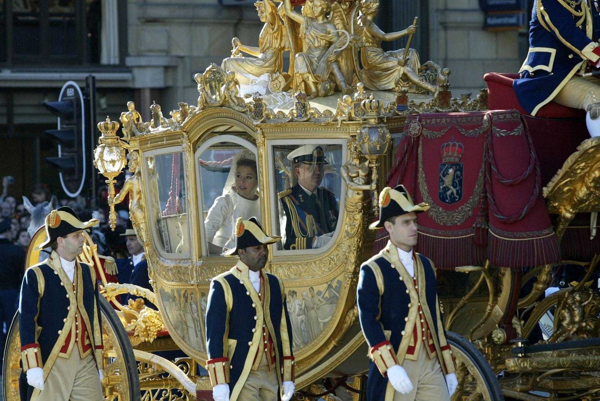 La carroza de oro en la que se desplazaron Máxima y Guillermo el día de su boda ahora está exhibida en un museo