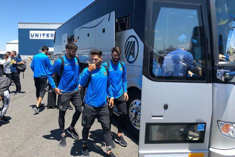 Lisandro López, Zárate y Mas, en la llegada de Boca a Miami