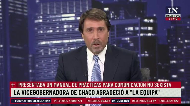 Feinmann arremetió contra la vicegobernadora de Chaco por el lenguaje inclusivo